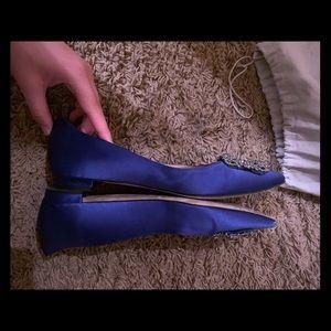 manoloblahnik blue flats